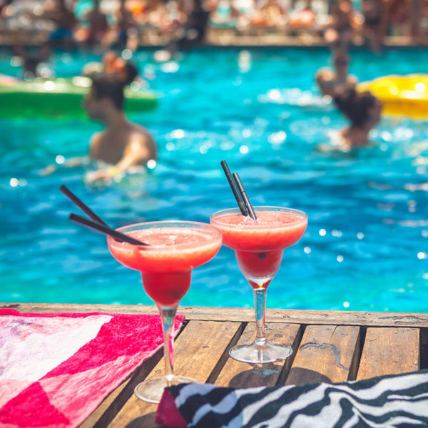ibiza entertainment pool and cocktails
