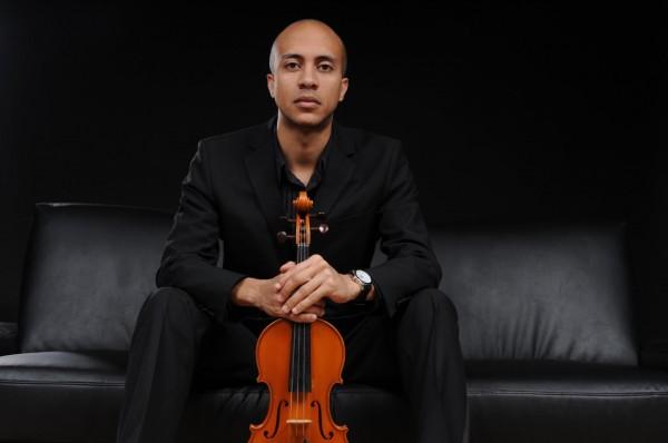 Violinist with DJ