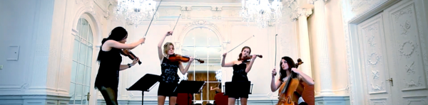 Music entertainment hire string quartet London, weddings, parties, private events